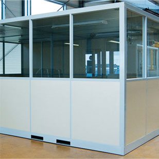 cabine de bureau palettisable amovible spingenierie. Black Bedroom Furniture Sets. Home Design Ideas